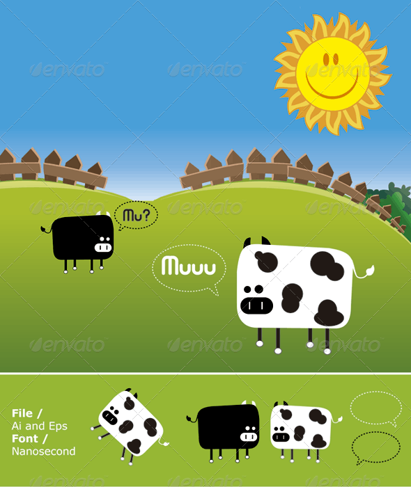 Muu Cow - Animals Characters