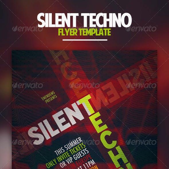 Silent Techno Flyer Template