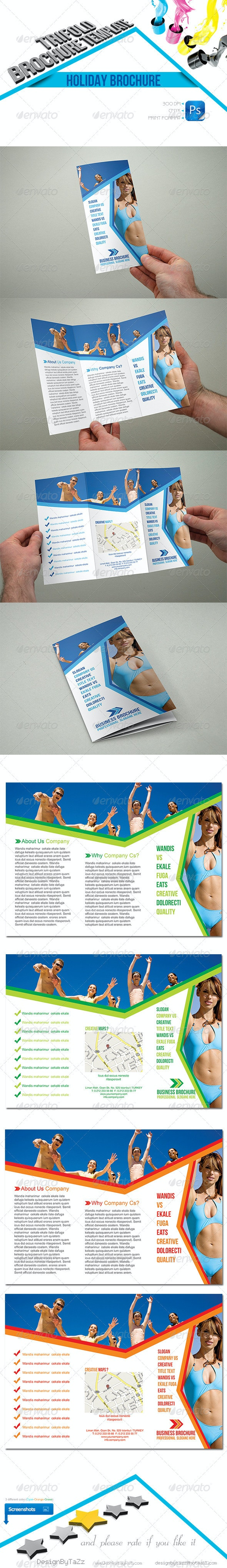 Holiday Trifold Template - Brochures Print Templates