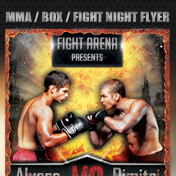 MMA / BOX / Fight Night flyer