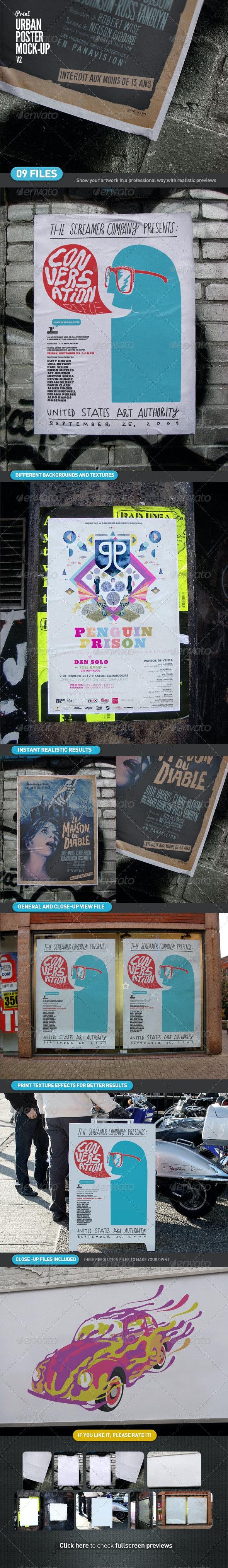 Urban Poster Mock-Up v2 - Posters Print