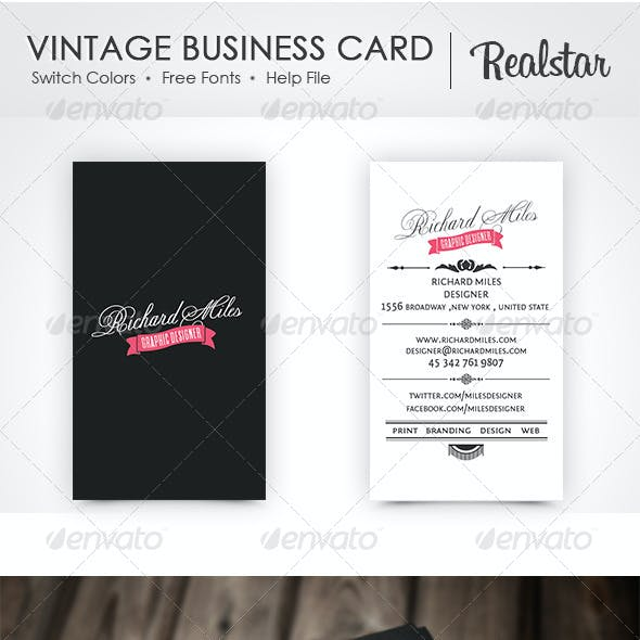 Vintage Business Card