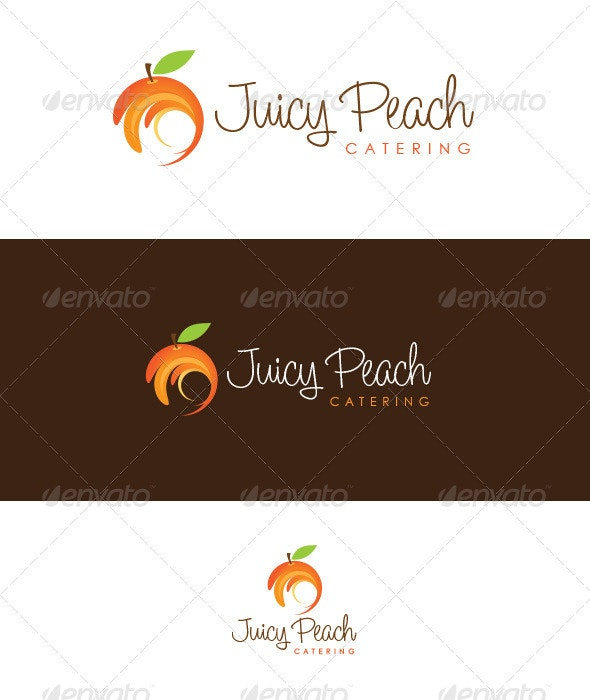 Juicy Peach Catering - Food Logo Templates