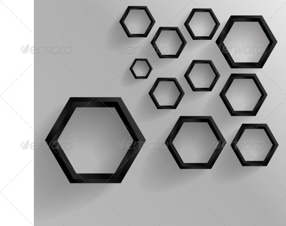 Vector Abstract Background Hexagon. by ikatod | GraphicRiver