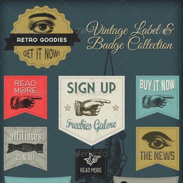 Retro Labels & Badges - Vintage Victorian