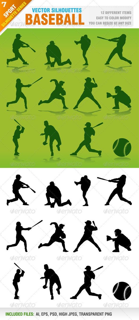 Baseball Silhouettes - Sports/Activity Conceptual
