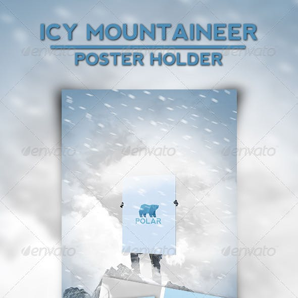 Icy Mountaineer Poster Holder