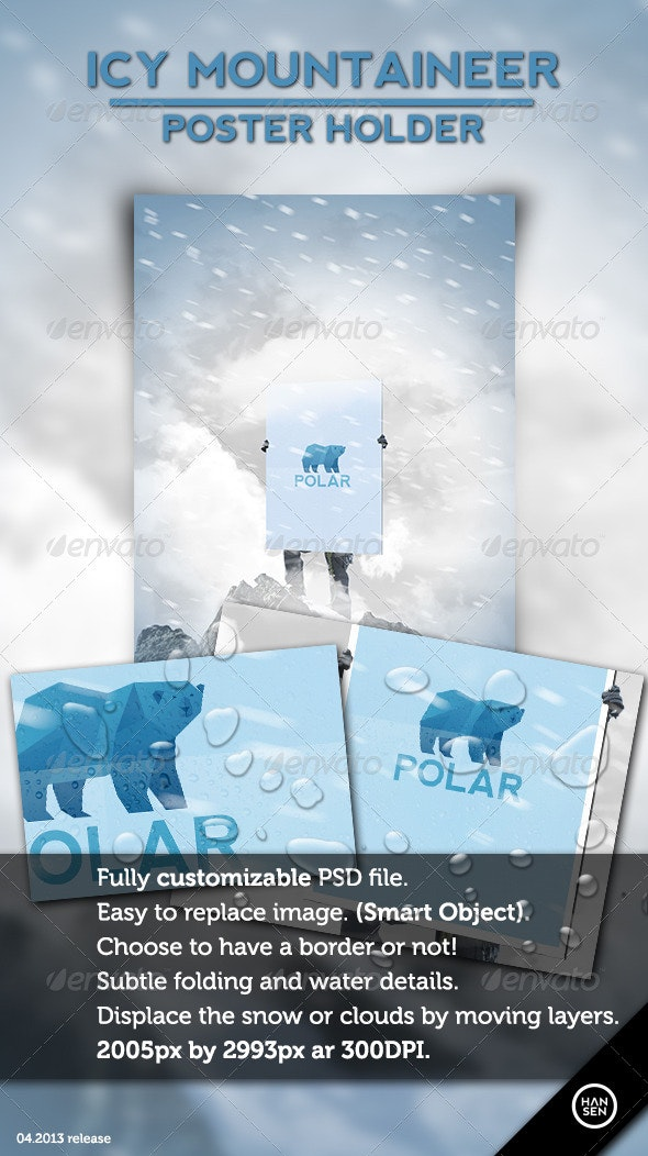 Icy Mountaineer Poster Holder - Flyers Print