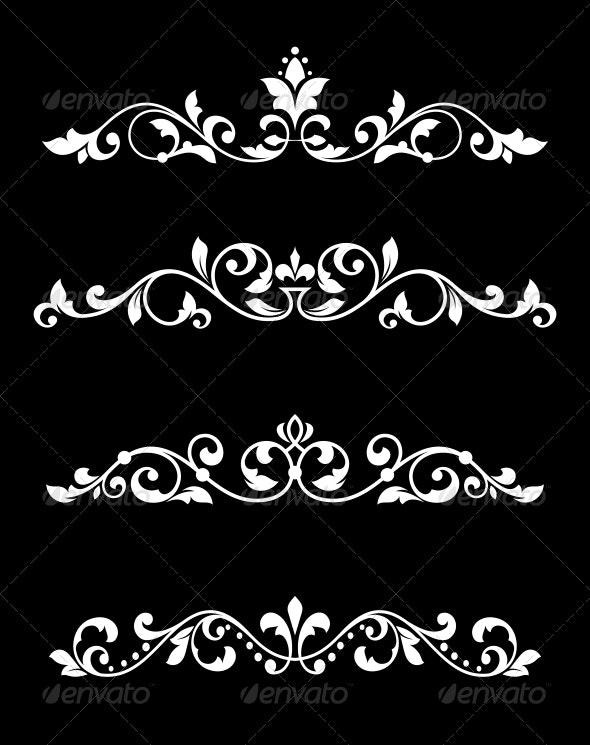 Borders and Dividers in Retro Style - Borders Decorative