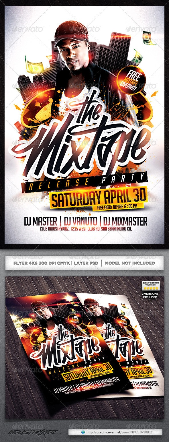 Mixtape Release Party Flyer  - Clubs & Parties Events