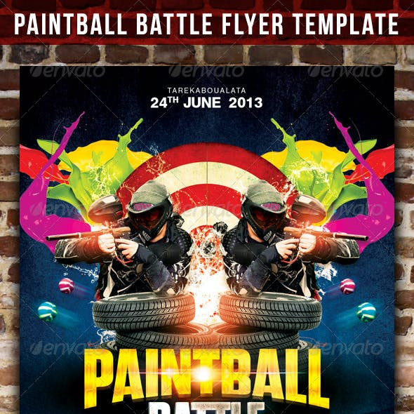 Paintball Battle Flyer Template