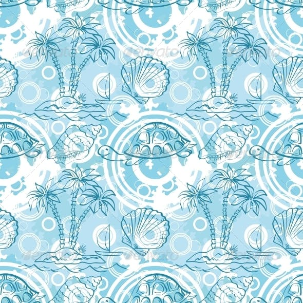 Seamless Exotic Ocean Pattern