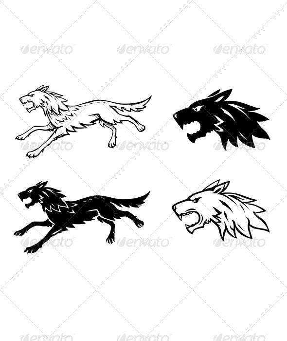 Wolf Illustration - Tattoos Vectors