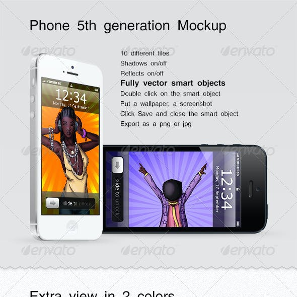 Phone 5th Generation Mockup