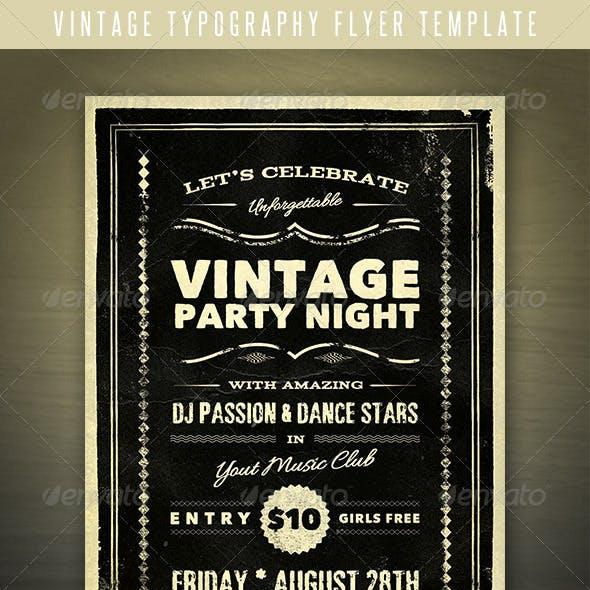 Vintage Typography Flyer