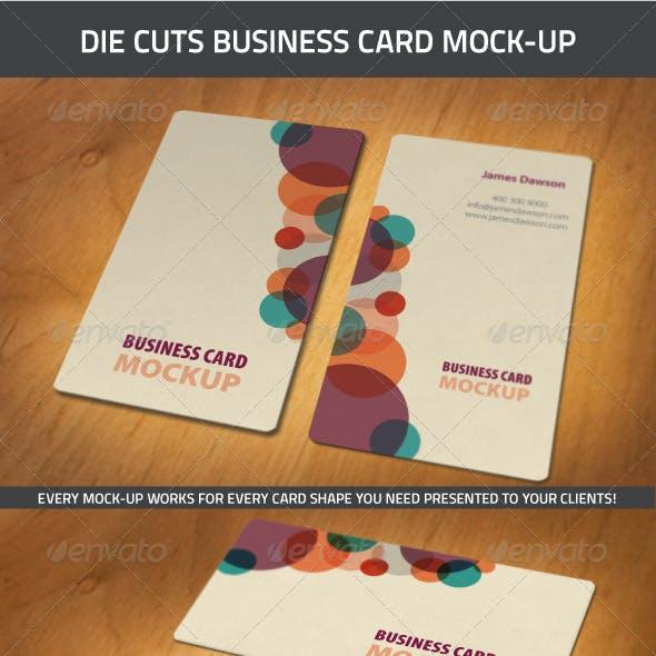 Die-Cut Business Card Mock-Ups
