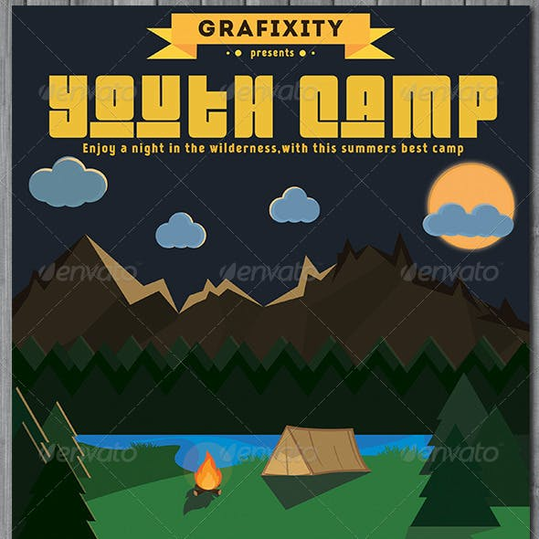 Youth Summer Camp -Retro/Vintage Poster