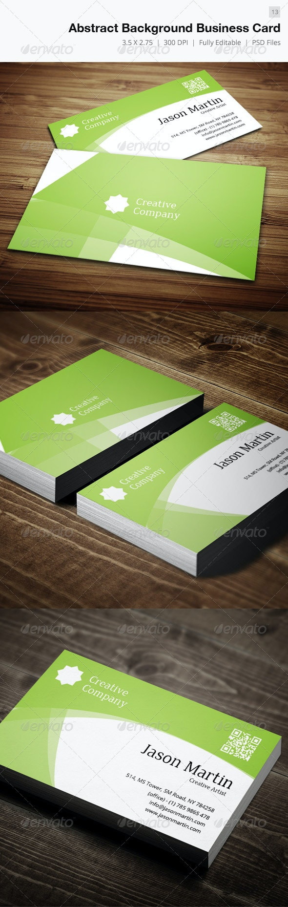 Abstract Background Business Card - 13 - Creative Business Cards