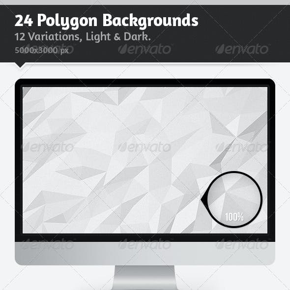 24 Polygon Backgrounds