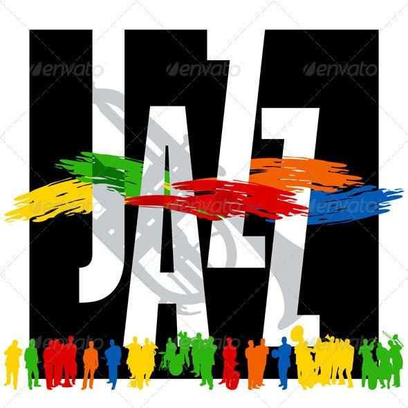 Jazz Night Poster - Conceptual Vectors