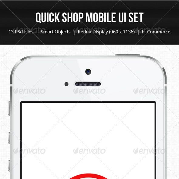Quick Shop Mobile Ui - Retina