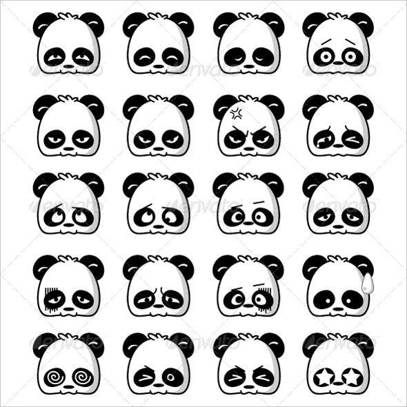Cute Emoticon Panda