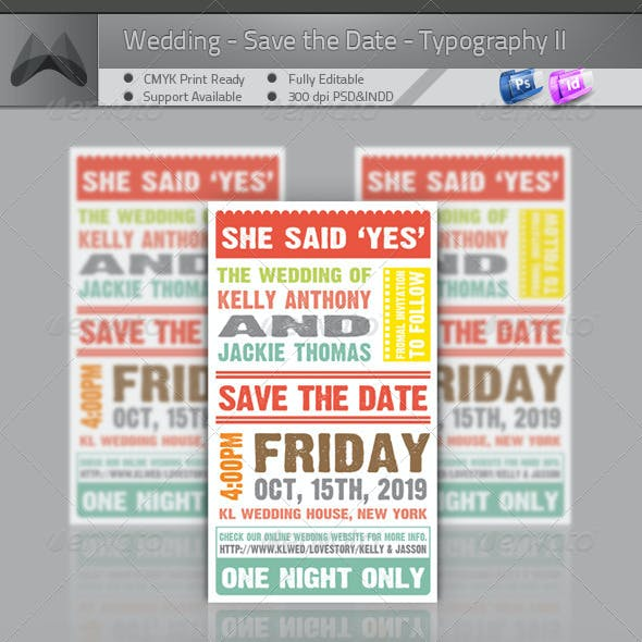 Wedding - Save The Date - Typography II