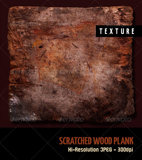 Scratched Wood Plank - Wood Textures