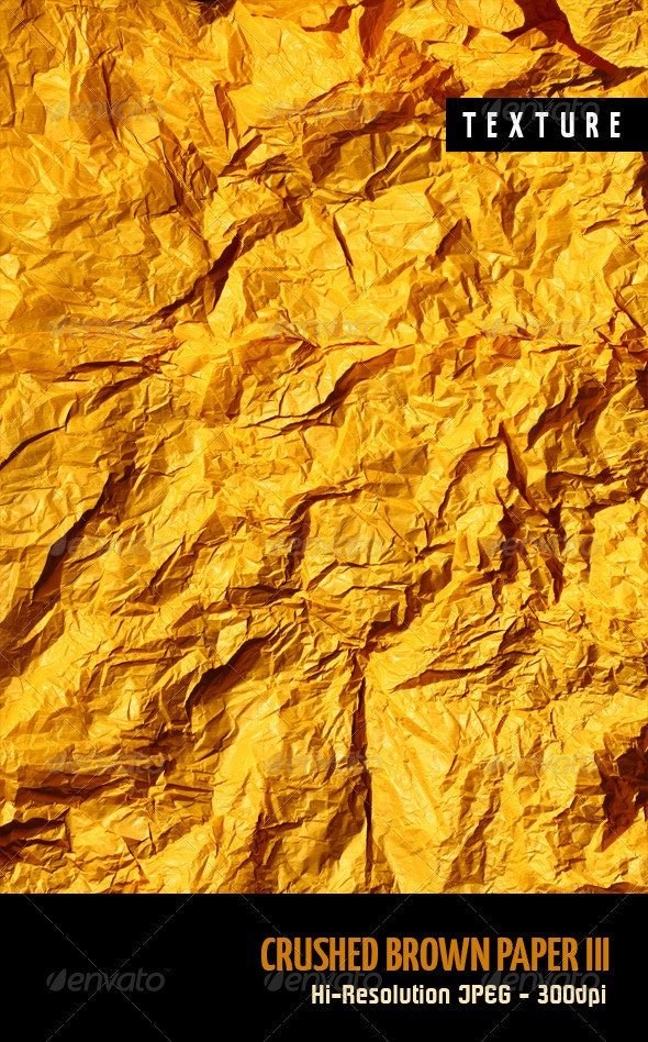 Crushed Brown Paper III - Paper Textures