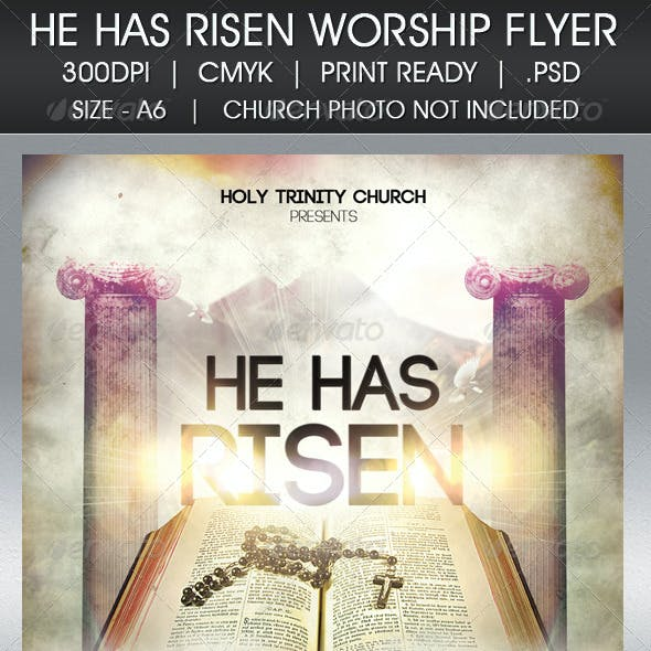 Easter Sunday He Has Risen Flyer