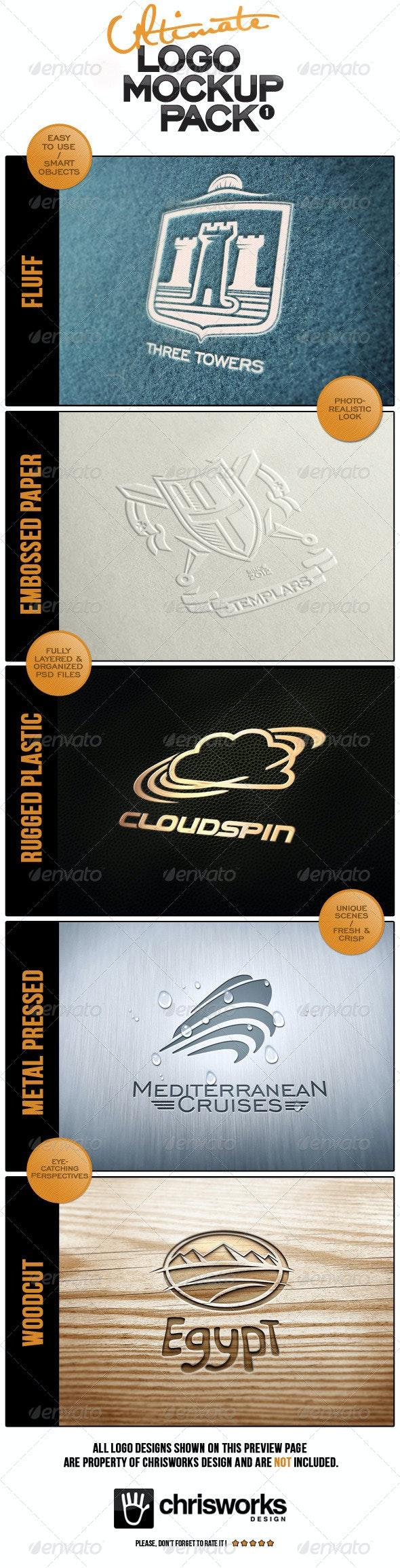 Ultimate Logo Mock-Up Pack - Logo Product Mock-Ups