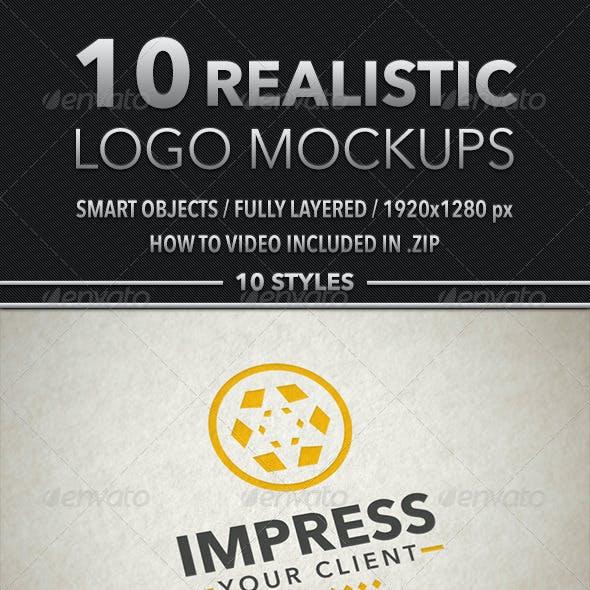 10 Realistic Logo Mockups