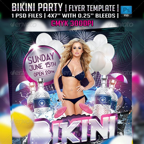Bikini Party Flyer Template