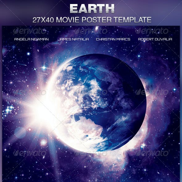 Earth Movie Poster Template