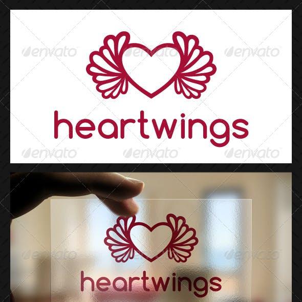 Heart Wings Logo Template
