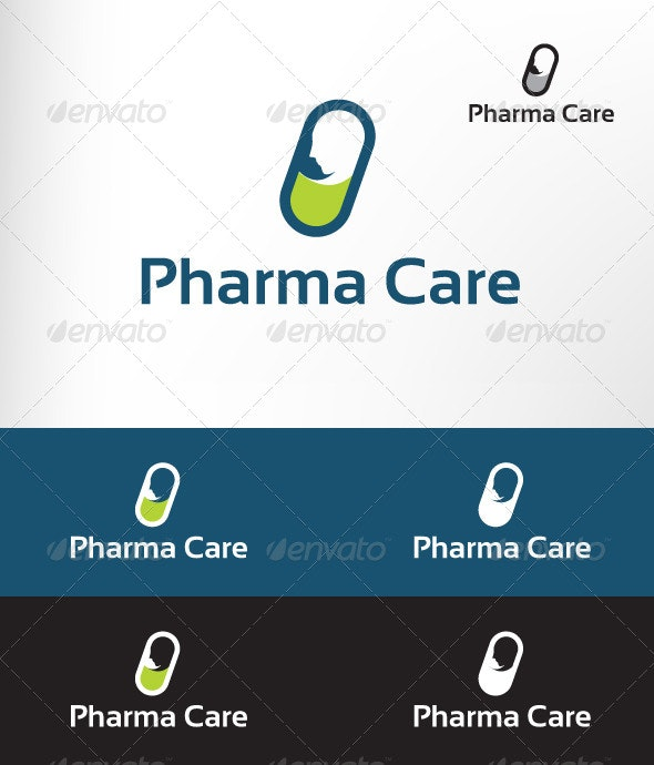 Pharma Care - Letters Logo Templates