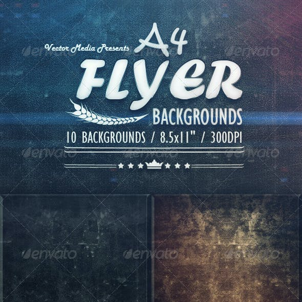 A4 - Flyer Backgrounds