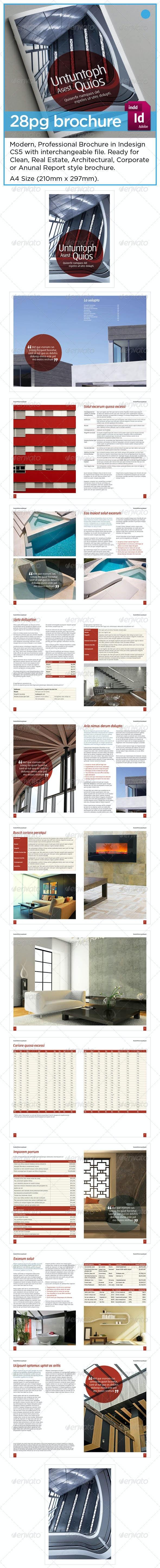 Architecture / Report / Corporate 24pg Brochure - Informational Brochures