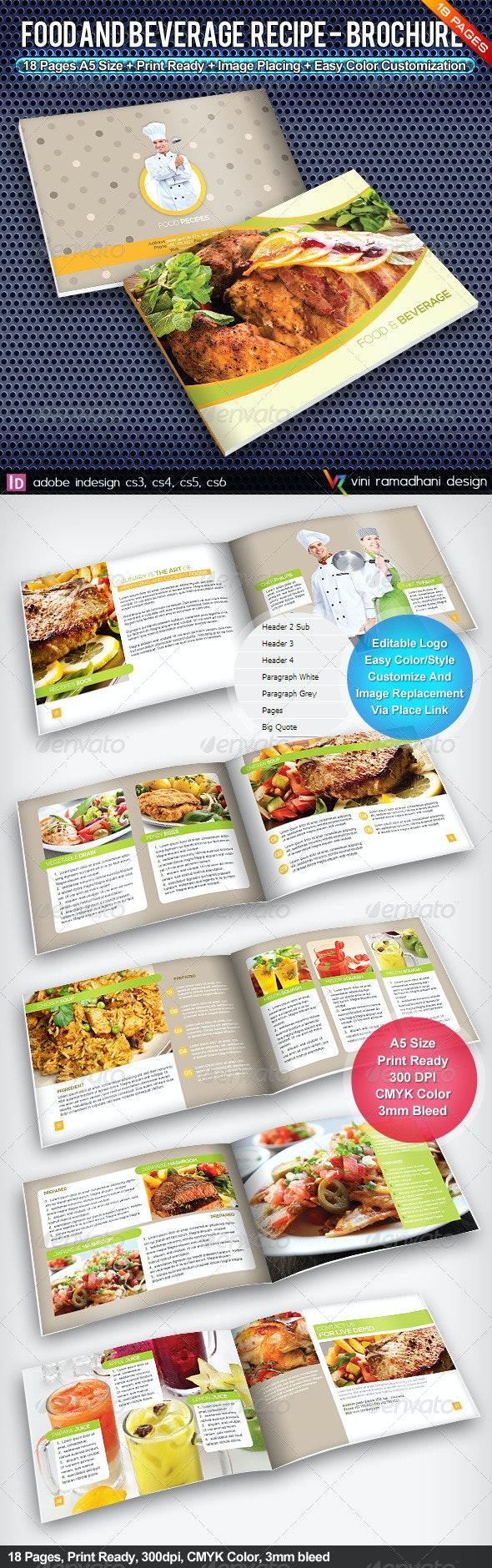 Food Recipe Brochure | Volume 1 - Catalogs Brochures