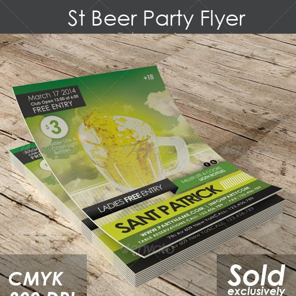 St Beer Party Flyer
