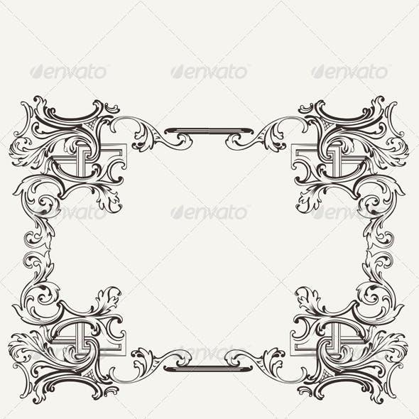 Original Renaissance Ornate Frame