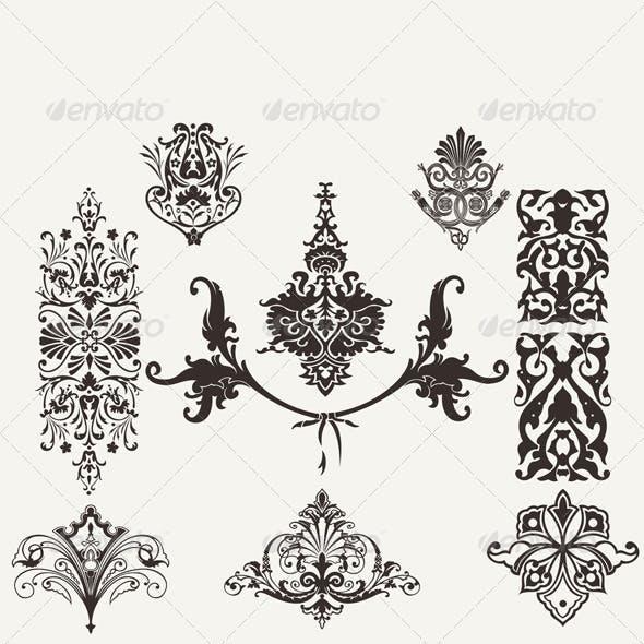 Vintage Design Elements and Page Decoration