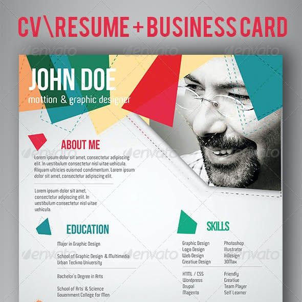 CV/Resume and Business Card Template