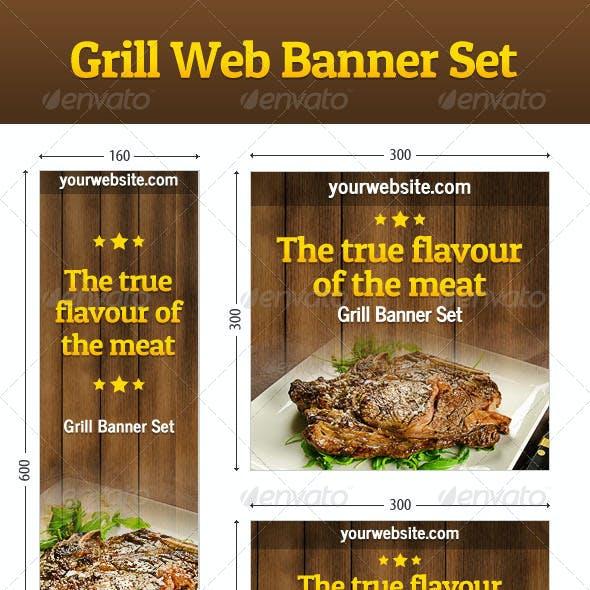 Grill Web Banner Set