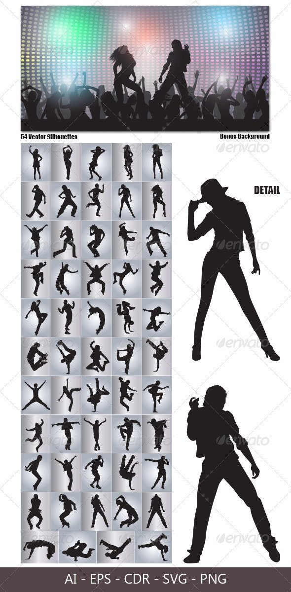 Dancing Silhouettes - People Characters