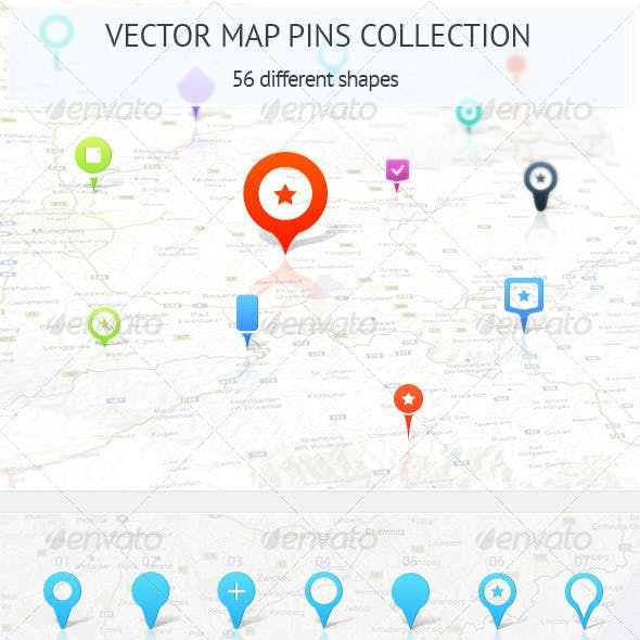 Map Pins Collection