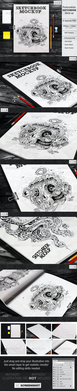 Sketchbook Mockup - Miscellaneous Print