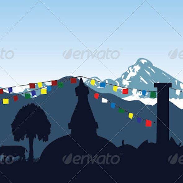 Nepal Silhouette