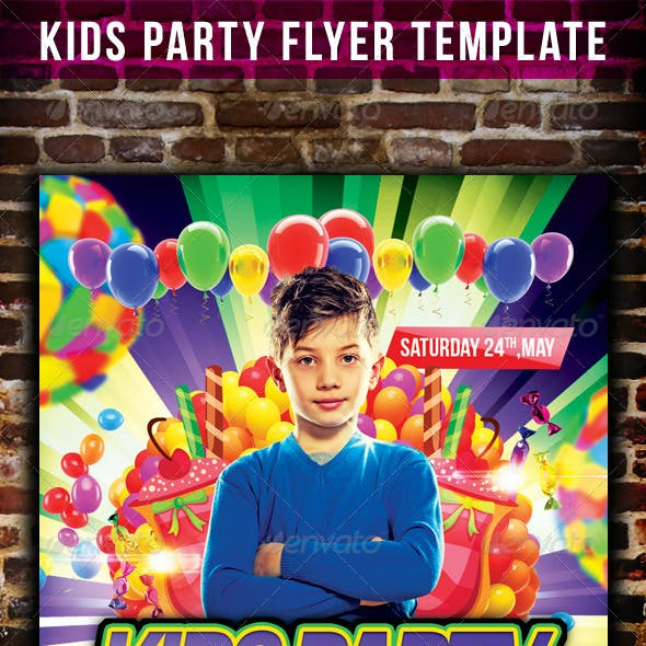 Kids Party Flyer Template v.2