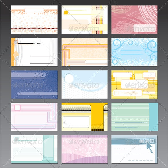 Set of Business Card Design Templates - Concepts Business
